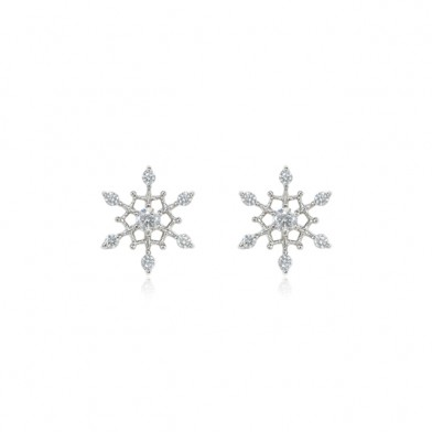 SNOW FLOWER BASIC EARRINGS