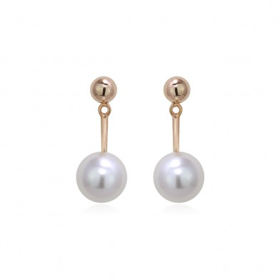 BLING TWO-WAY PEARL EARRINGS