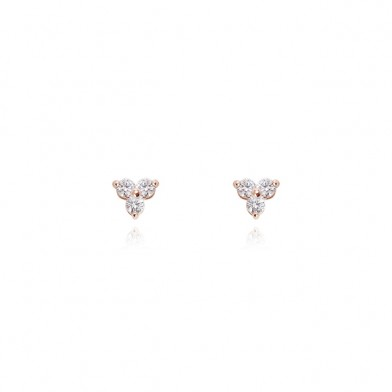TRIPLE ZIRCONIA EARRINGS